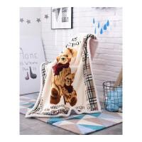 儿童毛毯卡通双层加厚珊瑚绒法兰绒羊羔绒毯子幼儿园婴儿床单被子定制 5*140CM