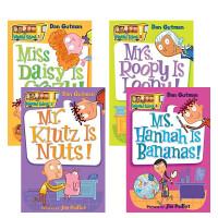 My Weird School Collection: Books 1 to 4 疯狂学校 1-4册盒装 经典桥梁书