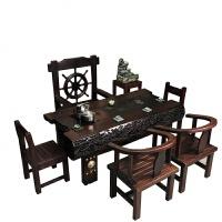 【���x】茶桌椅�M合新中式全��木家具客�d��_��s茶�_茶�着莶枳雷� 整�b