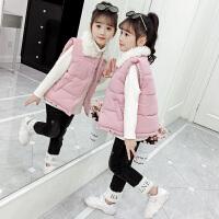2019秋冬季新款洋气中大童冬装加厚女童儿童三件套童装