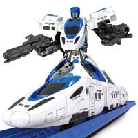 和谐号变形玩具金刚合体机器人高铁小火车电动套装赛车轨道车男孩 变形轨道车_和谐号 官方标配