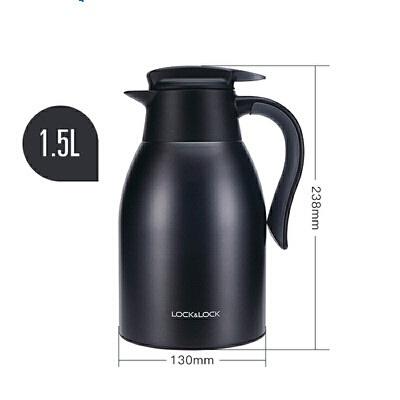 乐扣乐扣保温壶家用不锈钢大容量宿舍咖啡壶暖水瓶户外暖水壶