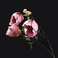 仿真玉兰花装饰花单支绢花摆件客厅餐厅餐桌桌面花瓶水培插花装饰