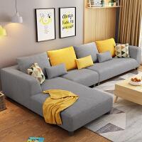 【品牌特惠】北欧布艺沙发组合客厅整装简约现代小户型贵妃转角沙发家具经济型