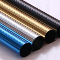 单向反光玻璃贴膜家用窗膜太阳膜阳台遮光防晒隔热膜遮阳窗户贴纸 亮蓝银 60厘米/1米