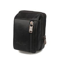男士小腰包潮男休闲迷你手机包4.0寸穿皮带手机包烟包