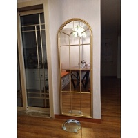 美式复古做旧铁艺壁挂镜框落地全身穿衣镜悬挂墙面玄关网红装饰镜 其他 否