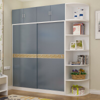 衣柜推拉门木质移门卧室木质定制家具组合2门趟门组装大衣橱 2门组装