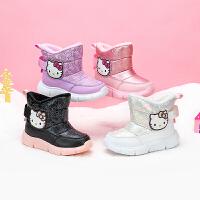 【3折�r:119.7元】hellokitty�P蒂��和�女童靴子冬季加�q雪地靴加厚保暖女����二棉鞋2020新款冬鞋 K05