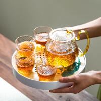 玻璃功夫茶具套装耐高温日式家用简约茶壶茶杯办公室会客泡茶小套