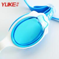 女童宝宝游泳镜泳帽套装 儿童泳镜 男童透明游泳眼镜