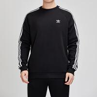 Adidas阿迪达斯三叶草男装2019春季新款运动服圆领套头卫衣DV1555
