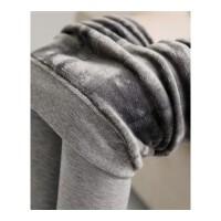 打底裤连裤袜女外穿踩脚龙爪毛秋冬加绒加厚一体裤灰色袜连脚 图片色