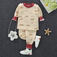 秋冬新款加绒加厚儿童保暖内衣套装柔牛奶丝婴幼儿宝宝秋衣秋裤