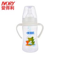 ��口奶瓶 新生��240ml��口���手柄PP大奶瓶含奶嘴A82ADL �D案�S�C