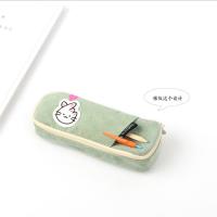 青壹坊TR-AA30000比心喵插袋笔袋4款图案颜色随机创意文具笔盒文具袋韩式风格大中小学生幼儿园男女孩办公开学用品收