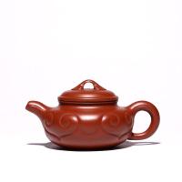 宜兴紫砂壶 全手工原矿大红袍球孔仿古壶 如意紫砂壶茶具套装 图片色