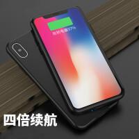 iphonex无线充电宝苹果X背夹电池10手机壳式从冲器便携 iPhoneX 经典黑 大容量