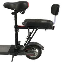 电动滑板车加装后座踏板车代步车快拆后货架尾座儿童后置座椅配件
