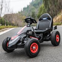 贝伦多 儿童电动车四轮卡丁车可坐男女宝宝遥控玩具汽车充气轮小孩摩托车