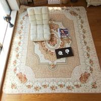 简欧地毯样板房珊瑚绒欧式沙发客厅茶几地毯居家卧室床边床前地毯