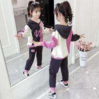 2019春秋季新款韩版儿童洋气童装时髦卫衣两件套女童秋装套装