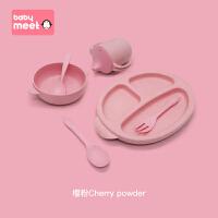 儿童餐具套装宝宝分格餐盘防摔婴儿辅食吃饭碗卡通勺筷叉可爱家用