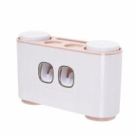牙膏牙刷置物架全自动挤牙膏器吸壁式家用按压挤压神器套装