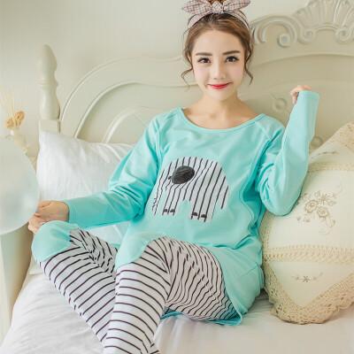 孕妇睡衣春秋季长袖月子服哺乳怀孕期居家服产后喂奶衣套装夏