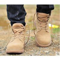 英伦男靴子短靴 时尚军靴沙漠靴工装鞋男 潮流牛仔靴男