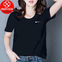 Nike/耐克女装新款运动服休闲半袖上衣宽松舒适透气圆领T恤AJ8122-010