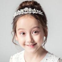 皇冠�^��和��^�公主皇冠女童演出配�花童生日�l箍�珠�l��l�A花�h�品MYZQ61 白色