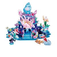 3d立体拼图儿童美人鱼城堡模型发光拼装玩具小女孩儿童礼物男孩儿童宝宝玩具 美人鱼宫殿(会发光)