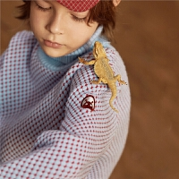 MQD童装男童2019冬季新款毛衣落肩高领针织衫保暖加厚儿童中大童