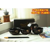 景德镇卡通手绘动物米饭甜品碗 日式创意兔子陶瓷碗盘餐具套装