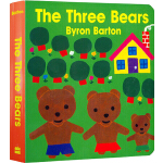 The Three Bears 英文原版 三只小熊 纸板书 名家Byron Barton 拜伦巴顿