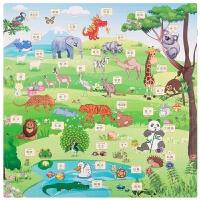卡通拼图动物地垫宝宝爬行垫防滑铺地卧室儿童泡沫垫拼接加厚6060 动物世界 早教无甲醛