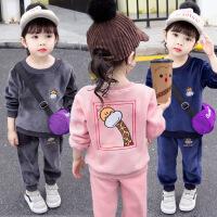 2019春秋季新款童装两件套休闲中小童韩版男女童运动套装
