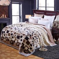 秋冬季加厚双层婚庆盖毯 单双人学生珊瑚绒毯子 拉舍尔毛毯