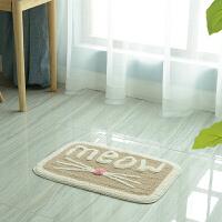 长毛地垫浴室门口吸水踩脚垫厨房门垫卫生间卫浴地毯定制