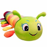 毛毛虫毛绒玩具可爱女孩抱着睡觉的抱枕长条枕布娃娃公仔床上玩偶 (内胆款 可拆洗)