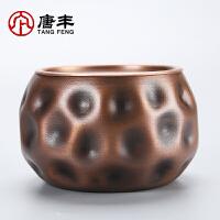 唐丰铜制建水家用办公茶渣缸茶水收纳筒功夫废水缸茶道配件