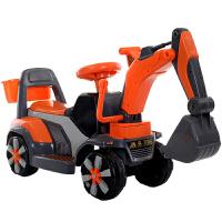 电动玩具车 儿童 可坐 挖掘机可坐可骑电动大号男孩宝宝钩机滑行玩具车工程车挖土机 带音乐 灯光