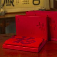 老人生日礼物实用送长辈祝寿礼品红围巾爷爷奶奶父母老年人80大寿