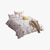 当当优品家纺 纯棉斜纹印花床品 双人床单四件套 枝叶相持