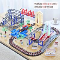 拖马斯小火车轨道玩具儿童电动轨道车套装男孩子小孩男童宝宝汽车 伦敦高架桥 (赠送8节充 电池+充电器)