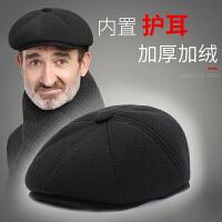 中老年人帽子男冬天老人男士秋冬八角帽英伦画家帽老头爸爸爷爷帽