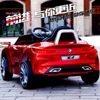 儿童电动车四轮带遥控汽车可坐人小车小孩宝宝玩具充电童车zf10 Z4酒红烤漆皮座垫 双驱