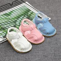 夏季男女宝宝凉鞋学步鞋子1-2-3岁儿童软底鞋婴儿凉鞋