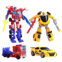 擎天柱变形金刚玩具 大黄蜂变形机器人汽车人男孩小礼物 变形金刚款式混搭